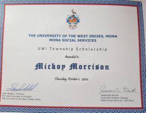 MMorrison certificate